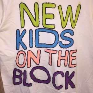 New Kids On The Block Hand-Painted concert T-Shirt